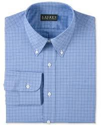 lauren ralph lauren blue glen plaid dress shirt dress shirts