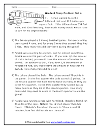 ideas about grade 4 math worksheets word problems easy