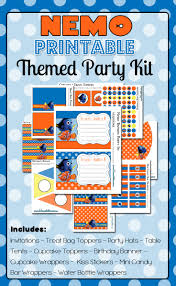 finding nemo party printables free