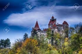 medieval bran castle in romania known for dracula story stock