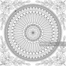 floral mandala pattern coloring page vector art getty images