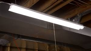 linkable led shop lights eti ssl inc 4 ft shop light installation youtube