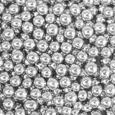 8mm silver sugar balls
