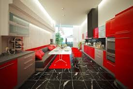 Red And Black Kitchen Tiles - chairs beautiful tile kitchen flooring design with kitchen island
