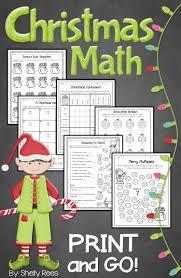 christmas math print and go packet teacher lesson plans