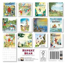 rupert bear mini wall calendar 2017 art calendar flame