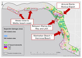 Map Of Los Angeles Area Beaches by Nobuko Introduction To Gis