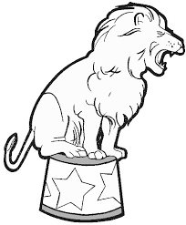 circus animals 10 animals u2013 printable coloring pages