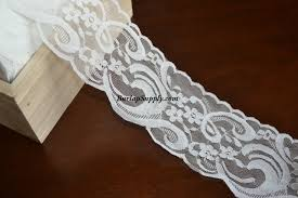 wide lace ribbon white lace ribbon scalloped edge 3 5 inch wide x 10 yards
