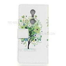 protective leather stand for zte axon 7 mini green tree tvc