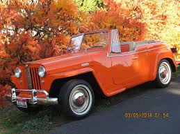 willys jeepster interior first year 1948 willys jeepster rag top orange tan convertible