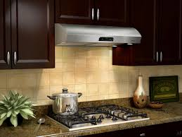 Ventless Range Kitchen Designed For Easy Cleaning With Under Cabinet Range Hood
