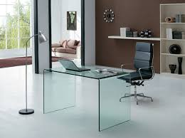 Home Office Glass Desks Excellent Glass Executive Desk With Drawers Modi Glass Office Desk