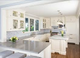 Gray Cabinets With White Countertops Kitchen Mesmerizing White Kitchen Cabinets With Grey Countertops