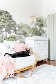 sofa bed for baby nursery love this wallpaper the rug is wonderful too deborah emily