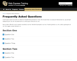 Faq Frequently Asked Questions Pages Web Central University Of