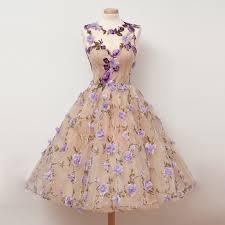 tea length dress gorgeous tea length homecoming dresses with handmade flowers