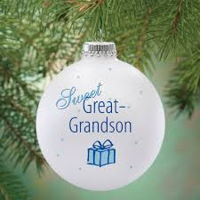 personalized sweet great grandson ornament kimball