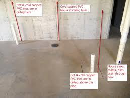Diy Basement Bathroom Basement Help Identifying Bathroom Rough In Pipes Doityourself