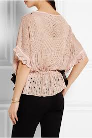 red valentino crochet knit sweater in pink lyst