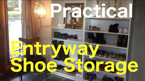 entryway organization ideas darlene s practical ideas shoe storage shelf in a big family