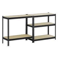 steel storage shelves edsal black steel heavy duty 5 shelf shelving unit just 37 68