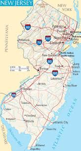 Interstate Map Of United States by Of New Jersey Usa