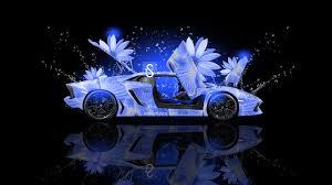Lamborghini Aventador J Blue - lamborghini aventador fantasy flowers car 2013 el tony