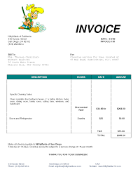 simple invoice template word office backorm cleaning commercial