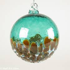 ornaments blown glass rainforest islands ferry