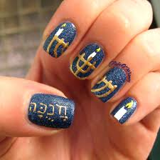 hanukkah nail hanukkah sameach flight of whimsy