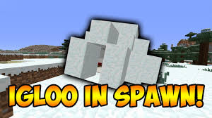 Igloo by Minecraft Seeds Igloo In Spawn 1 9 Youtube