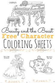 beauty beast coloring sheets beourguest