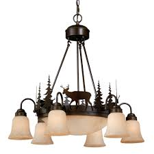Chandelier Metal Rustic Chandeliers Cabin Lighting Black Forest Décor