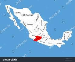 Morelia Mexico Map by Michoacan Mexico Vector Map Silhouette Isolated Stock Vector