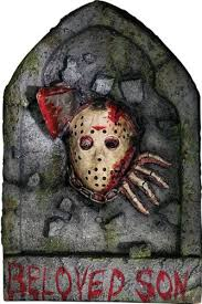 friday the 13th jason voorhees tombstone decoration by
