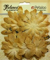 burlap flowers petaloo textured elements antique gold burlap flowers 1205 252