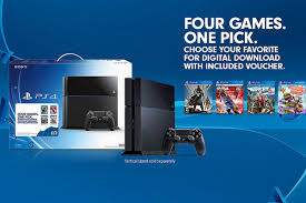 ps4 gift card get a ps4 with destiny lbp3 nba 2k15 or far cry 4 and a 50 gift