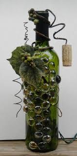 gems for table decorations diy grape vine wine bottle crafts glass gems leaves berries