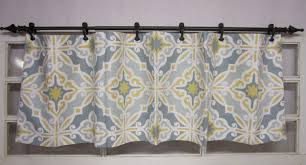 compact gray valance 147 grey valance curtains geometric navy and