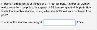 How Fast Is Light 1 Point A Street Light Is At The Top Of A 11 Foo Chegg Com
