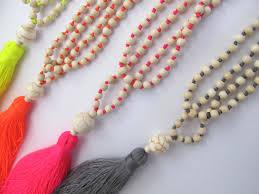 beaded tassel necklace images Neon beaded tassel necklace jpg
