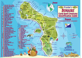 Flamingo Map Bonaire Diving Divers Paradise With Franko Maps Electronic Fish