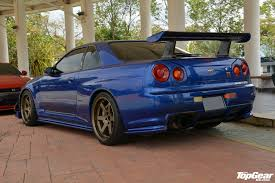 nissan r34 fast and furious topgear malaysia garage nissan skyline gt r v spec ii