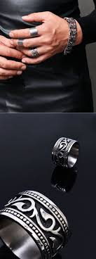 fashion rings men images Accessories rings stainless steel tribal engrave ring 47 jpg