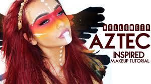 halloween aztec inspired makeup look youtube