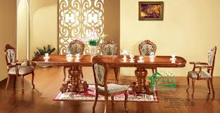 china dining room furniture with 96 inch length dining table and 8