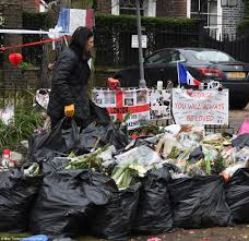 floral tributes to george michael cleared from london home daily