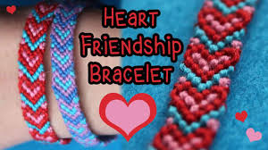 friendship heart tutorial heart friendship bracelet 3 colors