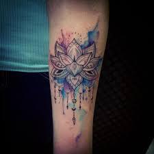 watercolor style mandala tattoo tattoomagz